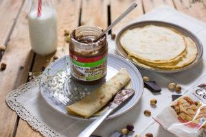 Crema de gofio y mini crêpes, la combinación perfecta